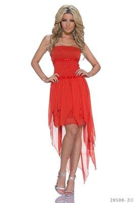 Sexy zijde mini jurk van ZMG in Rood