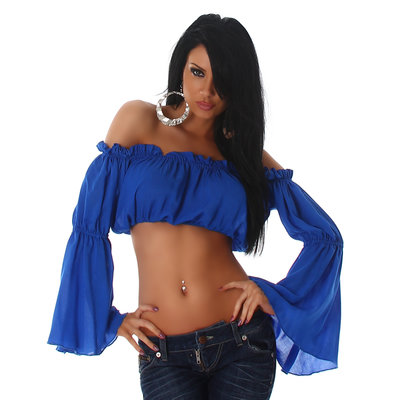 Sexy Jela London Latina Top L363 in Blauw