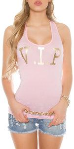 Sexy KouCla Tanktop met V.I.P. print in Roze