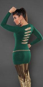 Sexy KouCla Longsweater met pailletten op de rug