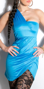 Sexy Oneshoulder minidress in Turquoise