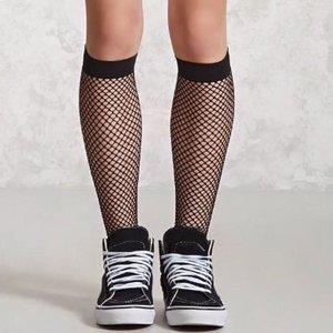 Sexy Hoge Net Sok in Zwart