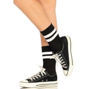 Athletic Korte Sokken met Witte Strepen