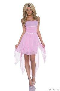 Sexy zijde mini jurk in roze