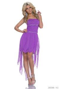 Sexy zijde mini jurk in paars