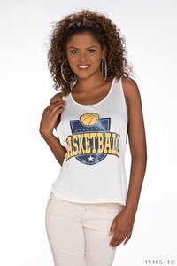 Sexy Basketball Tank Top in Wit