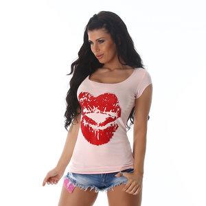 Sexy Jela London Shirt in Roze