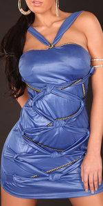 Sexy Disco Jurk met kettingen in Blauw