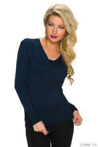 Sexy Fine Knit Sweater in Donker Blauw