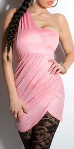 Sexy Oneshoulder minidress in Coral