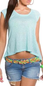 Trendy KouCla High Low Shirt in munt