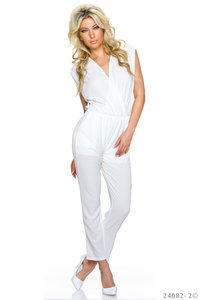 Sexy jumpsuit van LingLing in Wit