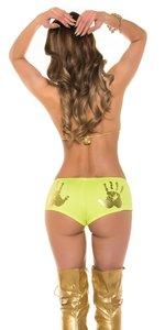 Sexy KouCla Panties met Handprint in Geel