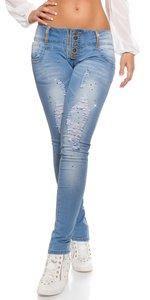 Sexy KouCla jeans destroyed look met steentjes