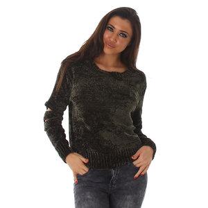 Sexy Jela London Sweater SF210 in Groen