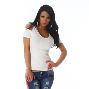 Sexy Jela London Top J185 in Wit
