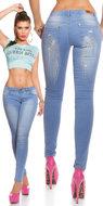 Sexy KouCla Skinny Jeans met Wings Embroidery