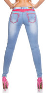 Sexy KouCla Skinny Jeans met Leather Look
