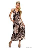 Sexy maxi jurk van Magnifique in donker bruinbruin