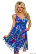 Sexy midi jurk van Azaka in multi blauw