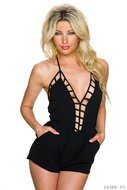 Sexy Hotpants Jumpsuit van Glam Style in Zwart
