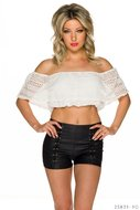 Sexy Italy Crop top in Wit