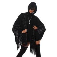 Sexy Jela London poncho in zwart