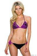 Sexy Bikini met print van No Go in violet zwart