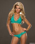 Sexy Bikini van No Go met gesp in turquoise