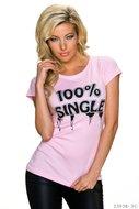 Sexy shirt met korte mouwen van First Look in roze