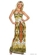 Sexy strapless maxi jurk van Miss 83 in witrood